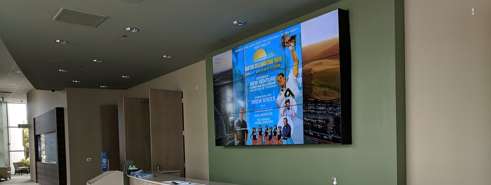 Church Video Wall Installation by ComsatAV